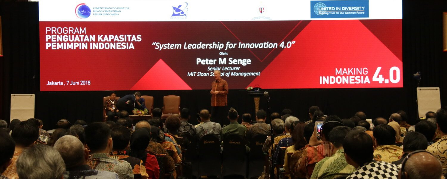 Peter Senge in Indonesia Making 4,0 - Top 1000 Leaders