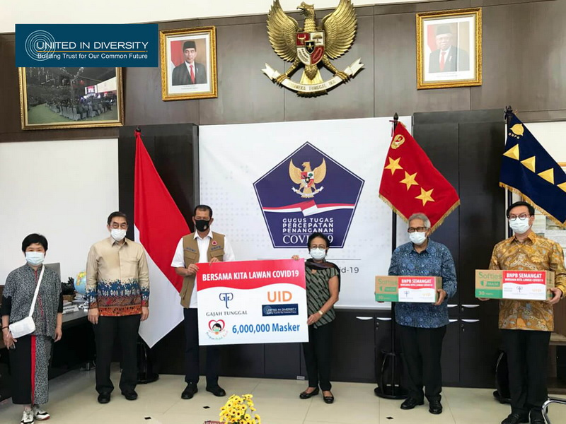 Gajah Tunggal Group Donates 6 Million Masks to UID Facing COVID-19