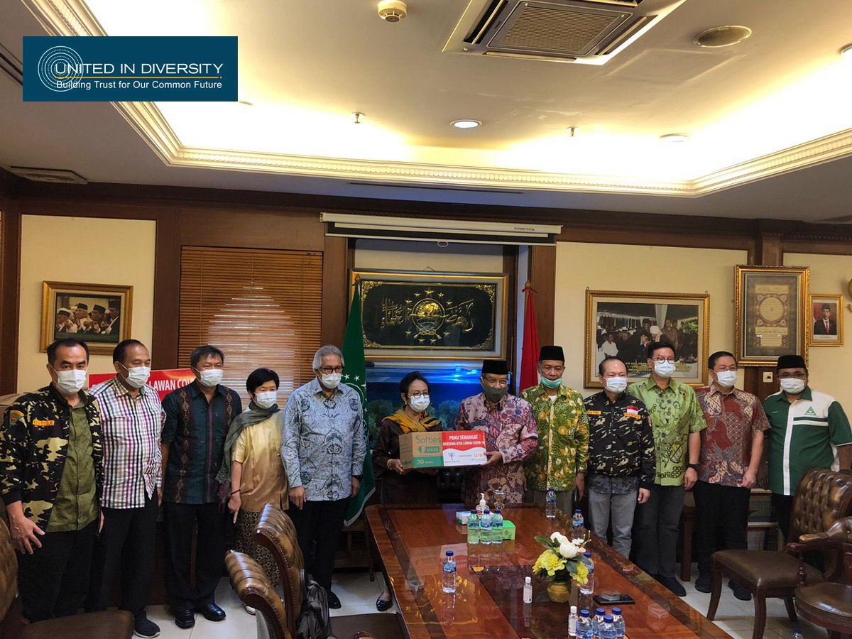 United in Diversity with Gajah Tunggal Group Support, Donates 50 Thousand Masks for Pengurus Besar Nahdlatul Ulama